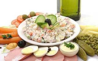 Салат типа оливье