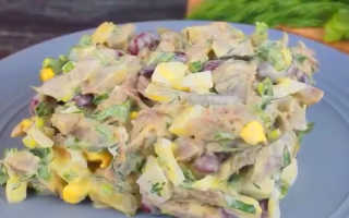 Мясные салаты без майонеза