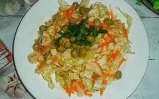 Салат соевое мясо