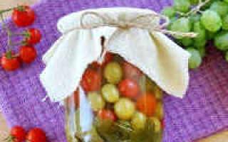 Консервированные помидоры на зиму самый вкусный рецепт с виноградом
