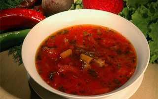 Борщ на овощном бульоне рецепт