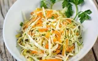 Салат из капусты с чесноком и морковью