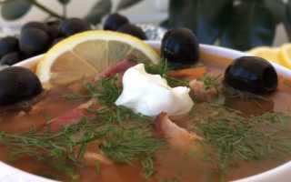 Солянка простой и вкусный рецепт