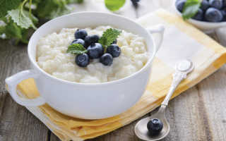 Сколько калорий в рисовой каше