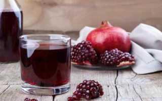 Как пить гранатовый сок при железодефицитной анемии