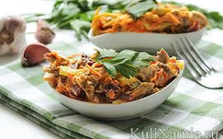Салат из мяса моркови и лука