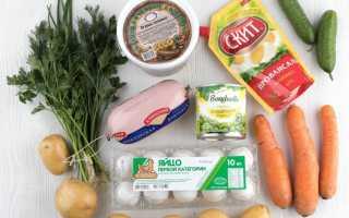 Салат оливье ингредиенты рецепт