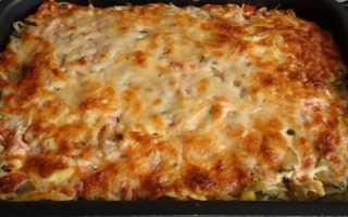 Запеканка из макарон в духовке с сыром