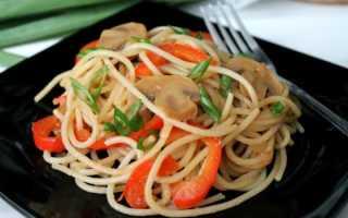 Рецепт макарон с грибами