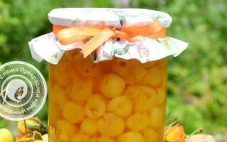 Рецепты варенья из желтой черешни