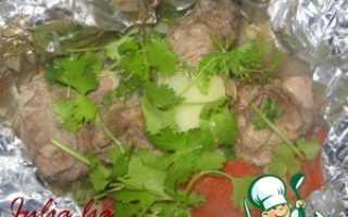 Мясо с картошкой в фольге