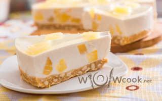 Рецепты невероятных творожных тортов с желатином без выпечки