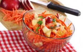 Салат из сырой моркови и яблок