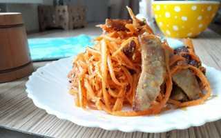 Салат морковь по корейски с мясом