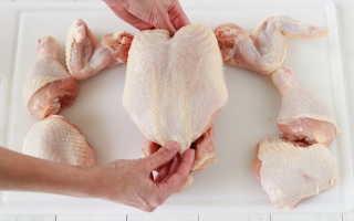 Правила потрошения и разделки куриной тушки