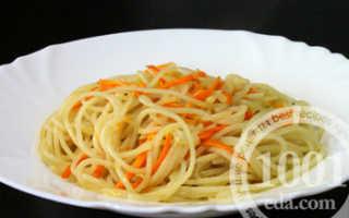 Как приготовить макароны с луком и морковью