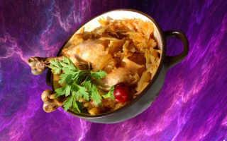 Тушеная капуста с курицей рецепт пошагово