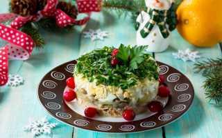 Зимний салат с мясом рецепт с фото
