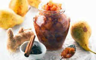Варенье из груш с лимоном пятиминутка