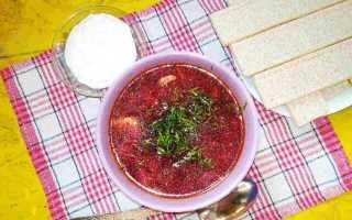 Готовим вкусный красный борщ со свеклой на мясном бульоне