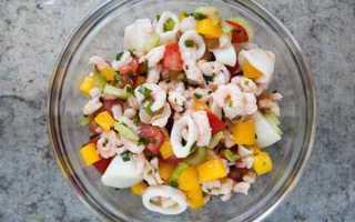 Салат морепродукты рецепт морской коктейль