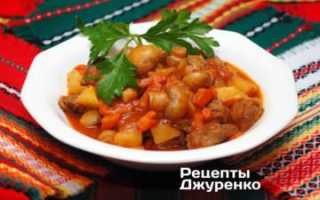 Рагу с грибами и картофелем