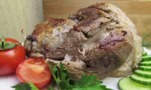 Как запечь вареную рульку свиную в духовке