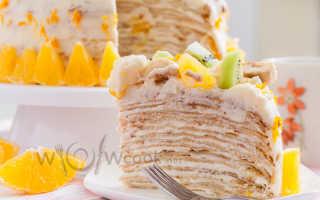Торт из блинов со сметанным кремом