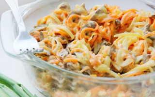 Рецепт салата обжорка с мясом классический