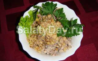 Рецепт салата с мясом и грибами