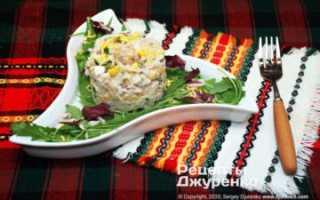 Рецепт салата с мясом криля