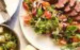 Тёплые салаты с мясом