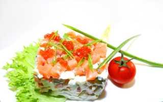 Салат оливье с лососем рецепт