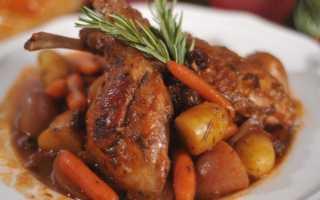 Рагу из кролика с овощами