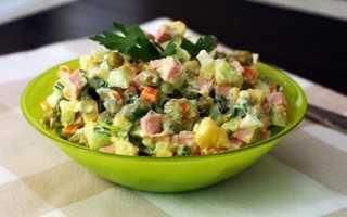 Рецепт салата оливье классический с колбасой