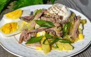 Рецепт салата из языка свиного