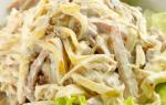 Вкусные салаты с маринованными грибами