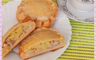 Тесто на элеш с курицей и картошкой