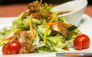 Японский салат рецепт с мясом