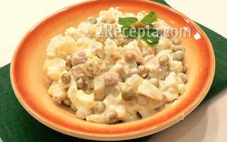Салат оливье с мясом рецепт с фото