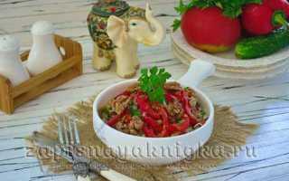 Салат фасоль с мясом