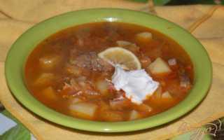 Солянка с квашеной капустой и мясом