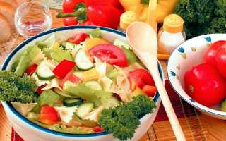 Рецепт макарон с овощами