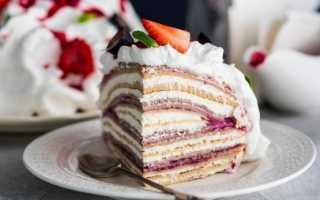 Торт из блинных коржей