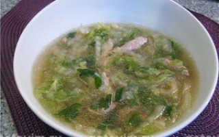 Суп с фунчозой и говядиной