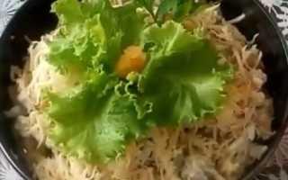 Салаты с мясом и грибами