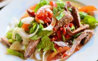 Салат со свининой простой и вкусный