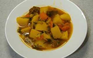 Вкусная тушёная картошка с мясом в кастрюле пошаговый рецепт