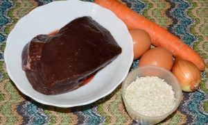 Печеночная запеканка с рисом в духовке рецепт
