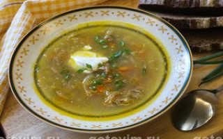 Суп на свинине рецепт
